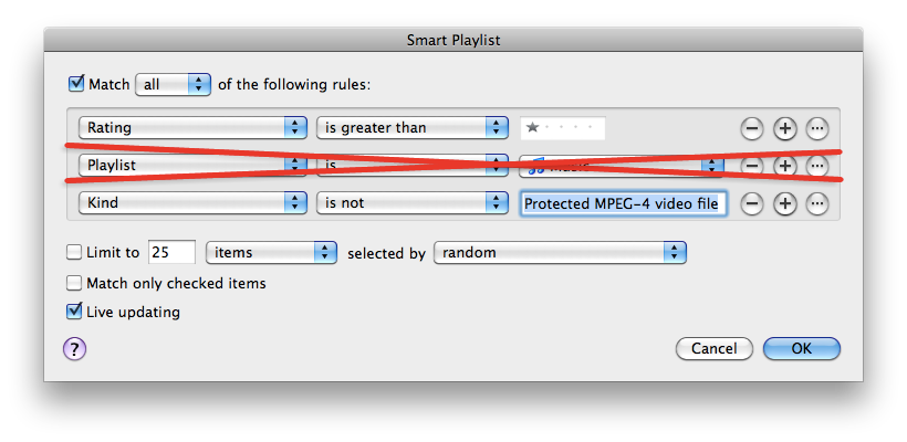 how to create a smart playlist on iphone